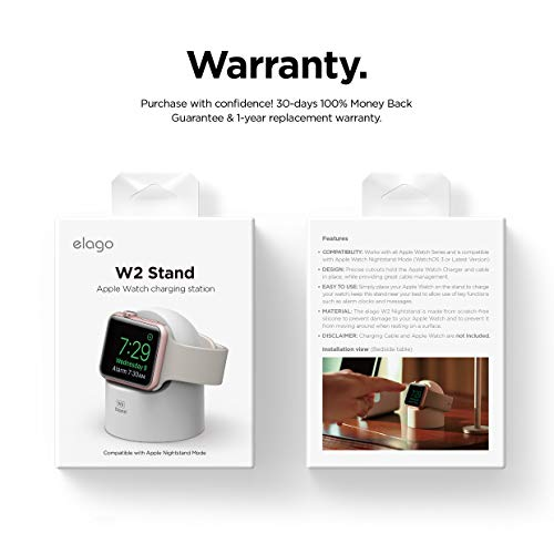 Elago W2 Stand Designed For Apple Watch Stand Compatible With All Apple Watch Series And Night Stand