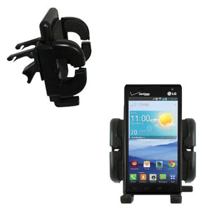 Gomadic Air Vent Clip Based Cradle Holder Car / Auto Mount suitable for the LG Optimus F3