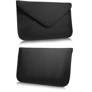 Kindle Keyboard 3G Case, BoxWave [Elite Leather Messenger Pouch] Synthetic Leather Cover w/Envelope Design for Amazon Kindle Keyboard 3G - Jet Black