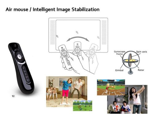 T2 2.4GHz Remote Controller Fly 3D Motion Stick Android Remote for PC, Smart TV, Set-top-box, Android TV Box, Media Player