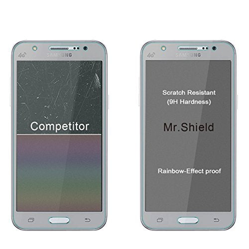 Mr.Shield For Samsung Galaxy J7 (2015 Version) [Tempered Glass] Screen Protector [0.3mm Ultra Thin 9H Hardness 2.5D Round Edge] with Lifetime Replacement