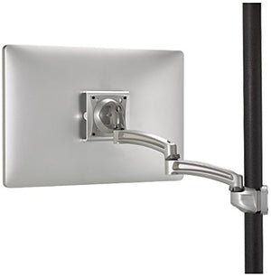 Kontour Pole Mount Articulating Arm, Single Monitor Color: Silver