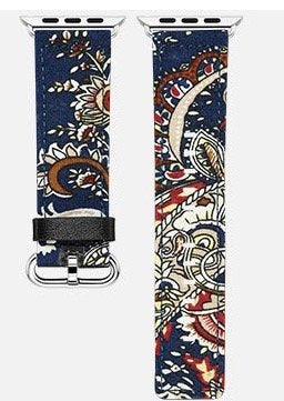 Apple Watch Band - Fashionable Colorful Apple Fabric Watch Strap with Metal Buckle for Apple Watch, Sport, Edition Great Back To School, Birthday, Anniversary Idea (Blue 42mm)