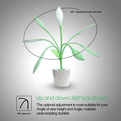 Iegrow Kids And Adults Desk Lamp, Flexible Usb Touch Led Lamp With 3 Level Dimmer And Plant Pencil H