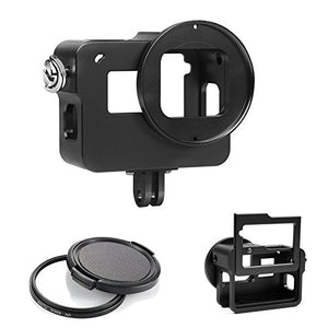 D&F Upgrade Aluminium Alloy Protective Housing Case Skeleton Border Frame with Backdoor for GoPro Hero 5