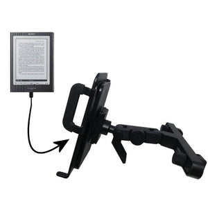 Innovative Headrest Vehicle Mount to Support Sony PRS-700BC Digital Reader Tablet by Gomadic