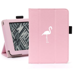 Pink For Amazon Kindle Paperwhite Leather Magnetic Case Cover Stand Flamingo