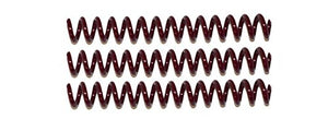 Spiral Coil Binding Spines 8mm (5/16 x 12) 4:1 [pk of 100] Maroon (PMS 188 C)