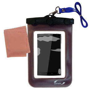Gomadic Outdoor Waterproof Carrying case Suitable for The HTC Zeta to use Underwater - Keeps Device Clean and Dry