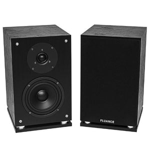 Fluance Elite High Definition 2-Way Bookshelf Surround Sound Speakers for 2-Channel Stereo Listening or Home Theater System - Black Ash/Pair (SX6-BK)