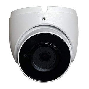 eSecure 4K AHD/HD-TVI/HD-CVI/960H IR Eyeball Dome Camera,2.8mm Fixed Lens, OSD, COC, Home Security Surveillance 4-in-1 Dome Camera (White)