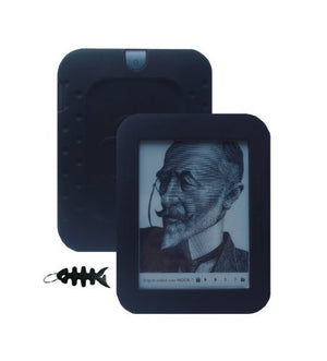 iShoppingdeals - for Barnes & Noble NOOK Simple Touch Reader Wi-Fi 2nd Generation (BNRV300) Soft Silicone Cover Case Skin, Black