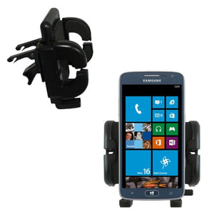 Gomadic Innovative Vent Cradle Vehicle Mount Designed for The Samsung ATIV S Neo - Adjustable Vent Clip Holder for Most Car/Auto Vent Systems