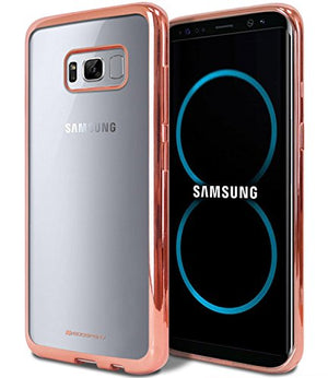 Galaxy S8+ [Plus] Case, [Glossy Metallic Color] GOOSPERY Ring 2 Jelly Case [Ultra Slim Fit] Flexible Shock Absorbing TPU Bumper Cover [Anti-Yellowing Finish] for Samsung Galaxy S8 Plus, Rose Gold