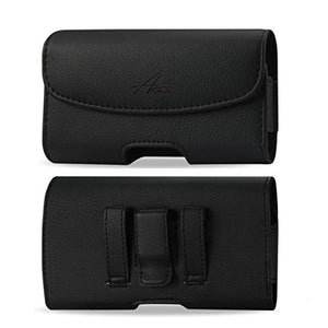 AGOZ for Motorola Droid Turbo 2, Premium Leather Pouch Case Holster with Belt Clip & Belt Loops 6 x 3.10 x 0.40 in