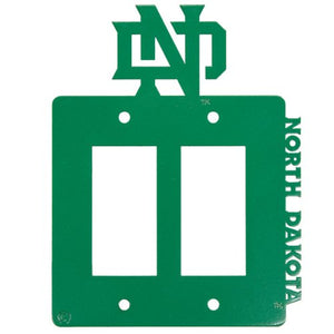 University of North Dakota - UND - Double Rocker Light Switch-GFCI Outlet Cover - Green