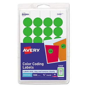 AVE05463 - Avery Custom Print Round Color-Coding Labels