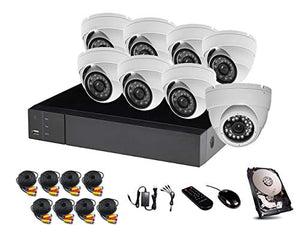 HDView 12CH Hybrid: 8 Channel DVR and 4 Channel NVR, with 1TB Hard Drive, 2.4MP 1080P HD Megapixel Security Camera TVI/AHD/CVI/960H DVR Kit, 2.4MP 1080P Infrared Cameras Package System