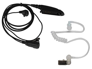 KENMAX 6 PIN Covert Acoustic Tube Earpiece Headset for Motorola Radio GP328 HT750 PRO5350