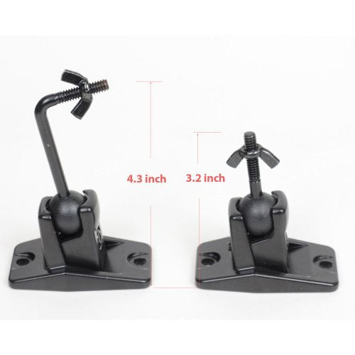 Video Secu Speaker Wall Ceiling Mount Bracket One Pair For Universal Satellite, Fits Keyhole And Thre