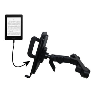 Unique Highly Adjustable Car/Auto Headrest Mount for The Amazon Kindle Paperwhite by Gomadic