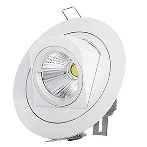 Pertop Dimmable Gimbal Recessed LED Downlight 4.25 inches,10W 3000K-3500K Soft White,980LM,Adjustable LED Retrofit Lighting Fixture, 3 YEARS WARRANTY