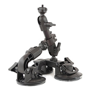 Delkin DDMNT-TRIPLE Fat Gecko Three-Arm Suction Mount (Black)