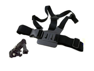 i.Trek Gopro Hero Chest Mount Harness with 3-way adjustment base, j hook and carrying bag (compatible with Gopro Hero HD 1 2 3 3+ 4)