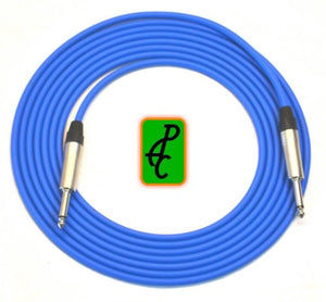 15 ft Canare Instrument Cable Blue 1/4