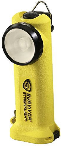 Streamlight 90519 Survivor LED Flashlight with 12V DC Fast Charger, Yellow - 175 Lumens
