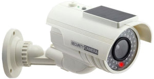 Cop Security 15-CDM17 Solar Powered Fake Dummy Security Camera, White