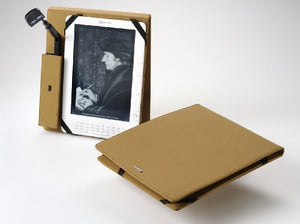 Periscope Flip Cover+Light for The Kindle DX in Camel Microfiber