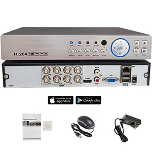 Evertech H.265 HD 8 Channel Surveillance Digital Video Recorder for AHD TVI CVI Analog Camera DVR for Security Systems, Remote Viewing, Email Alarm ( No Hard Drive Included for Recording )
