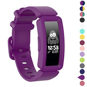 Watbro Compatible with Fitbit Ace 2 Bands for Kids 6+, Soft Silicone Bracelet Accessories Watch Band Repalcement Strap, Colorful Sport Wristbands for Fitbit Ace 2/ Inspire HR for Boys Girls