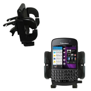 Innovative Vent Cradle Vehicle Mount Designed for The BlackBerry Q10 - Adjustable Vent Clip Holder for Most Car/Auto Vent Systems