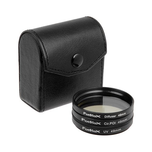 Fotodiox Filter Kit, Uv, Circular Polarizer, Soft Diffuser, 49mm For Canon, Nikon, Sony, Olympus, Pe
