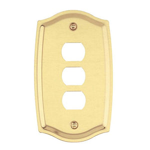 Switch Plate Solid Brass 3 Interchangeable/Despard | Renovator's Supply