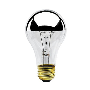 Bulbrite 60A19HM Half Chrome 60W A Shape Bulb (12 Pack)