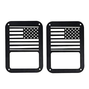 Nicebee 2 Pcs Tail Light Covers Trim Guards Protector Rear Lamp Covers for Jeep Wrangler Jk Sahara Sport Rubicon Unlimited 2007-2017