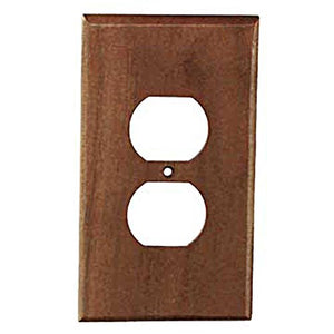 Sierra Lifestyles Traditional Switch Plate, 1 Duplex, Black Walnut