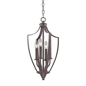 Cornerstone Lighting 7704FY/10 Foyer Collection 4 Light Pendant, Oil Rubbed Bronze