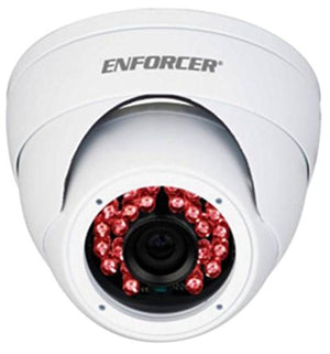 SECO-LARM EV-Y2201-A2WQ ENFORCER 4-in-1 HD TVI, CVI, AHD, Analog Fixed Rollerball Camera, White, 1/2.7