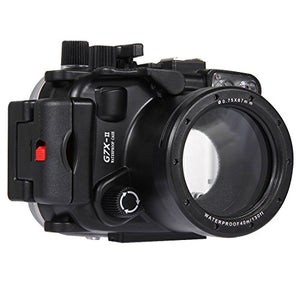 PULUZ 40m Underwater Depth Diving Case Waterproof Camera Housing for Canon G7 X Mark II
