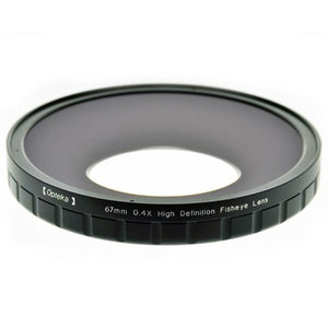 Opteka 67mm 0.4X HD2 Large Element Fisheye Lens for Professional Video Camcorders