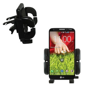 Vent Vehicle Mount Cradle Designed for LG G2 - Unique Auto Car Holder Clips into Air Vents.