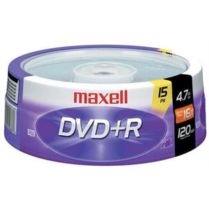 Maxell 639008 16x DVD+R Media - 4.7GB - 15 Pack (Maxell639008 )