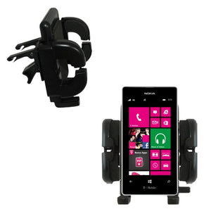 Gomadic Air Vent Clip Based Cradle Holder Car / Auto Mount suitable for the Nokia Lumia 521