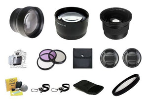 Professional High Definition Lens Accessory Package for SONY ALPH NEX CAMERAS - 40.5mm & 49mm - (NEX-3 Series NEX-5 Series NEX-6 Series NEX-7 Series) Includes: 2.2x Telephoto Lens + 0.43x Wide Angle +
