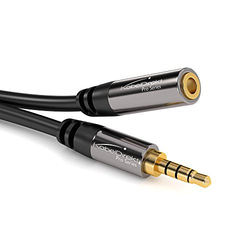 KabelDirekt (15 feet) Headset Extension Cable ( 3.5mm Male to 3.5mm Female)- Pro Series
