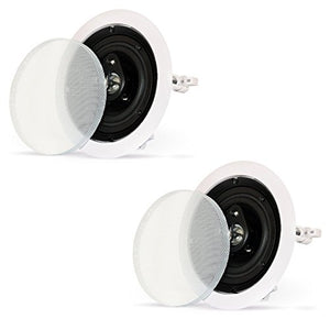 Theater Solutions CS43C in Ceiling 3-Way Speakers Surround Sound Home Theater Pair
